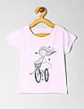 GAP Toddler Girl Purple Graphic Short Sleeve T-Shirt