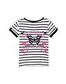 Cherokee Girls Butterfly Print Striped Top