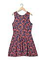Flying Machine Women Sleeveless Printed Fit & Flare Dress