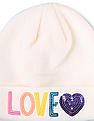 The Children's Place Girls Embroidered 'Love' Rhinestone Heart Hat