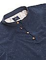 True Blue Contrast Yoke Slim Fit Polo Shirt