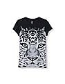 The Children's Place Girls Short Sleeve Leopard Face Graphic Tee