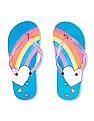 The Children's Place Girls Rainbow Heart Flip Flops