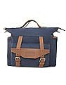 U.S. Polo Assn. Leather Trim Canvas Laptop Bag