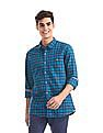 Cherokee Blue Patch Pocket Check Shirt