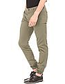 Arrow Sports Solid Slim Fit Chino Joggers