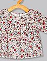 GAP Baby Multi Colour Floral Shirred Top