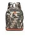 Aeropostale Contrast Panel Camo Print Backpack