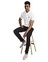 U.S. Polo Assn. White Star Print Pique Polo Shirt