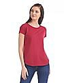 U.S. Polo Assn. Women Regular Fit Printed T-Shirt