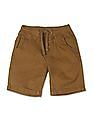 Cherokee Brown Boys Drawstring Waist Woven Shorts