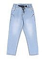 Cherokee Boys Elasticized Waist Washed Jeans