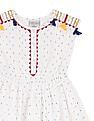Cherokee Girls Embroidered Fit And Flare Dress