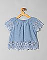 GAP Girls Chambray Eyelet Top