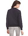 U.S. Polo Assn. Women Blue Zip Up Bomber Jacket