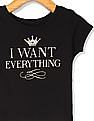 The Children's Place Toddler Girl Short Sleeve Glitter 'I Want Everything' Crown Graphic Tee