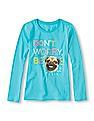 The Children's Place Girls Long Sleeve Printed T-Shirt