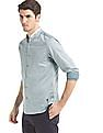 True Blue Panelled Front Slim Fit Shirt