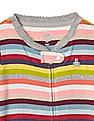 GAP Baby Multi Colour Bright Stripe Footed Zip One Piece