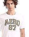 Aeropostale White Brand Applique Cotton T-Shirt