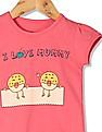 Donuts Girls Round Neck Printed T-Shirt