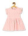 Donuts Pink Girls Lace Fit And Flare Dress