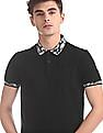Flying Machine Slim Fit Contrast Collar Polo Shirt