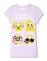 The Children's Place Girls Short Sleeve 'The Squad is on Point!' Emoji Graphic Tee