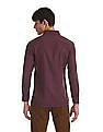 Excalibur Red Super Slim Fit Two Tone Shirt